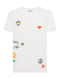 LAUREN MOSHI Croft Brushstroke Peace White