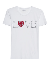 LAUREN MOSHI Croft Safety Pin Love White