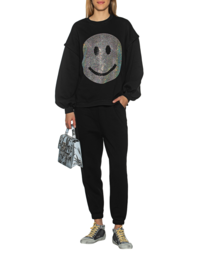 CAMOUFLAGE COUTURE STORK Jogger Smiley Glam Black