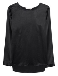 THE MERCER N.Y. Silk Blouse Black