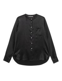 (THE MERCER) N.Y. Chest Pocket Silk Black
