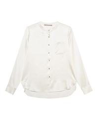 (THE MERCER) N.Y. Chest Pocket Silk Cream