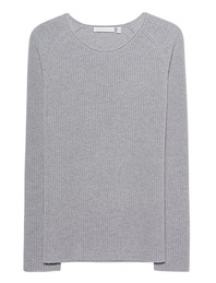 THE MERCER N.Y. Slim Crew Neck Silver Melange