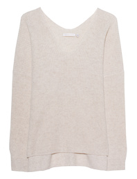THE MERCER N.Y. Cashmere V Neck Beige