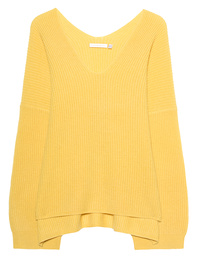 THE MERCER N.Y. Cashmere V Neck Yellow
