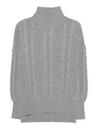 THE MERCER N.Y. Cashmere Cable Light Grey