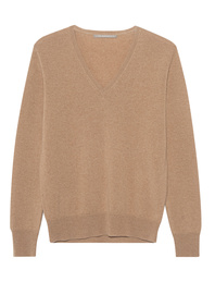 (THE MERCER) N.Y. Vneck Basic Cashmere Beige