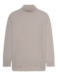 (THE MERCER) N.Y. Cashmere Stand-Up Collar Greige