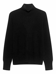 (THE MERCER) N.Y. Cashmere Stand Up Collar Black