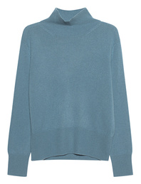 (THE MERCER) N.Y. Cashmere Stand Up Collar Blue