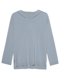 (THE MERCER) N.Y. Hooded Cashmere Light Blue