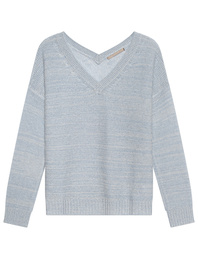 (THE MERCER) N.Y. V Neck Light Blue