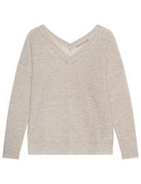 (THE MERCER) N.Y. V Neck Sand Beige