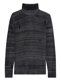 AVANT TOI Turtleneck Destroyed Black