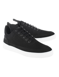 Filling Pieces Low Top Lane Matt Nubuck Black
