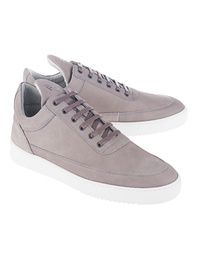 Filling Pieces Low Top Lane Matt Nubuck Light Grey