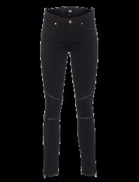 PAIGE Shiloh Zip Ultra Skinny Studded Vintage Black