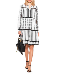 FROGBOX Boho Dress Black White
