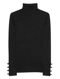 STEFFEN SCHRAUT Turtleneck Knit Ribbon Black