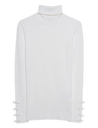 STEFFEN SCHRAUT Turtleneck Knit Ribbon Off-White