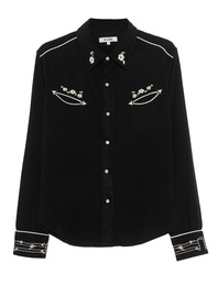 RE/DONE Western Embroidery Black