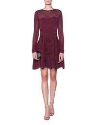 ANTONINO VALENTI Clorinda Skater Dress Bordeaux