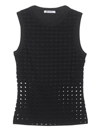 T BY ALEXANDER WANG Circular Hole Jacquard Black