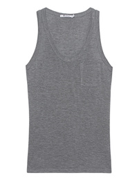 T BY ALEXANDER WANG Classic Cropped Tank Grey