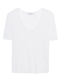 T BY ALEXANDER WANG Tee Classic Cropped White