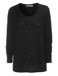 T BY ALEXANDER WANG Distressed Holey Jersey