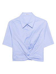 T BY ALEXANDER WANG Twist Front Crop Light Blue