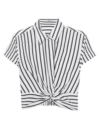 T BY ALEXANDER WANG Twist Front Crop Stripe