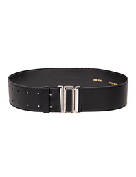 Magda Butrym Silver Buckle Leather Black