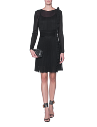 ANTONINO VALENTI Griselda Skater Dress Black