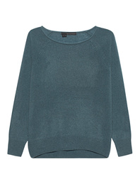 360 Cashmere Kacey Crew Neck Teal