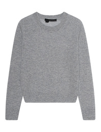 360 CASHMERE Basic Crew Heather Grey