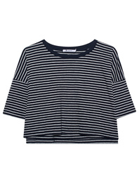 T BY ALEXANDER WANG Stripe Crop Grey Blue
