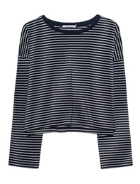 T BY ALEXANDER WANG Striped Drop Shoulder Grey