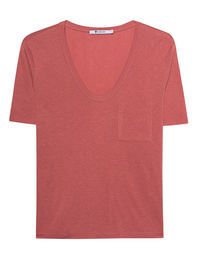 T BY ALEXANDER WANG Classic Cropped Tee Pink