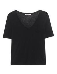 T BY ALEXANDER WANG Tee Classic Cropped Black