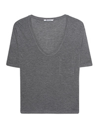 T BY ALEXANDER WANG Tee Classic Cropped Grey