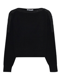 T BY ALEXANDER WANG Off Shoulder Button Black