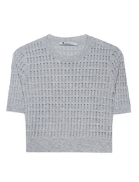 T BY ALEXANDER WANG Cropped Jersey Light Grey