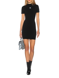 T BY ALEXANDER WANG Dress Logo Short Black
