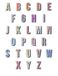 ANYA HINDMARCH Alphabet Stick Me A-Z
