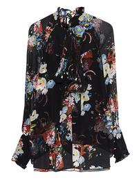 ERDEM Isabelle Flower Silk Black