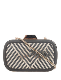 Lili Radu Shell Clutch Metallic V Grey