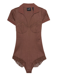 Fenty x Puma by Rihanna Polo Collar Bodysuit Friar Brown