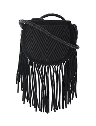 Lili Radu Saddle V Fringe Black