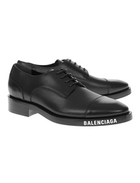 BALENCIAGA  Low Logo Soft Derby Black